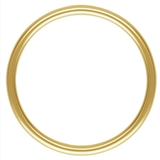 14k Gold filled Ring 1x15mm 2 pack-findings-Beadthemup