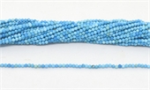 Turquoise Fac.Round 2mm strand 168 beads-beads incl pearls-Beadthemup