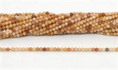 Pink Opal Fac.Round 3mm strand 100 beads-beads incl pearls-Beadthemup