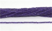 Amethyst Fac.Round 2mm strand 168 beads-beads incl pearls-Beadthemup
