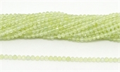 Prehnite Fac.Round 3mm strand 100 beads-beads incl pearls-Beadthemup