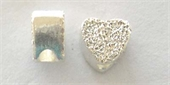 Sterling Silver Bead Heart 5mmstardust 4 pack-heart, flower, animal and star-Beadthemup