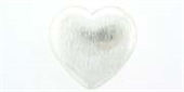 Sterling Silver Bead Heart 20mm brushed 1 pack-heart, flower, animal and star-Beadthemup