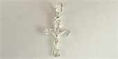 Sterling Silver Pendant Cross 20x10mm 2 pack-pendants and charms-Beadthemup