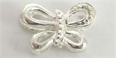 Sterling Silver Bead Butterfly 18x12mm 1 pack-heart, flower, animal and star-Beadthemup