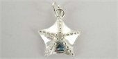 Sterling Silver Pendant Starfish 15mm WO/Ring-sea side charm bracelet-Beadthemup