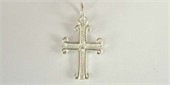Sterling Silver Pendant  Cross 15x10mm 1 pack-pendants and charms-Beadthemup
