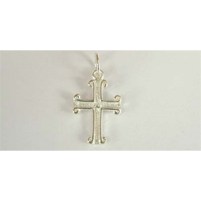 Sterling Silver Pendant  Cross 15x10mm 1 pack