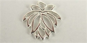 Sterling Silver Bead Flower 18x20mm Cut out 1 pack-heart, flower, animal and star-Beadthemup
