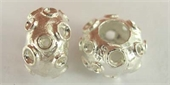 Sterling Silver Bead Rondel 10mm 4.8mm hole bea-beads and spacers-Beadthemup