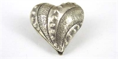 Sterling Silver Bead Heart 23mm patterened fat-heart, flower, animal and star-Beadthemup
