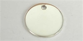 Sterling Silver Pendant Round 20mm high polish dis-pendants and charms-Beadthemup