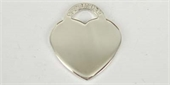 Sterling Silver Pendant Heart 17x19mm high polish-pendants and charms-Beadthemup