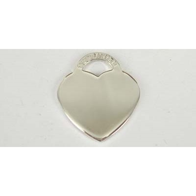 Sterling Silver Pendant Heart 17x19mm high polish