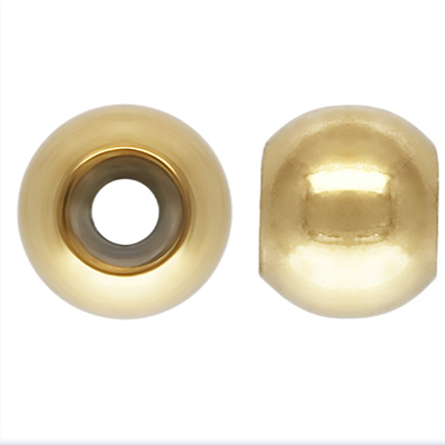 14k Gold filled 4mm Smart bead 2mm hole fits 1.5mm chain 2 pack