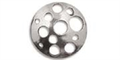 Sterling Silver Connecter Round 17mm 2 pack-connectors incl.links and bars-Beadthemup