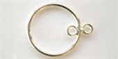 Sterling Silver Connecter 20mm Round 2 ring-connectors incl.links and bars-Beadthemup