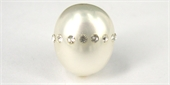 Shell Based Pearl 14x16mm w/Crystal each-beads incl pearls-Beadthemup