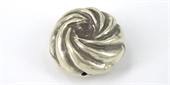 Sterling Silver Bead Round 35x20mm Swirl-beads and spacers-Beadthemup