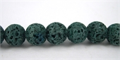 Lava Dyed Round 8mm Teal Dark beads per strand 52Beads-lava-Beadthemup