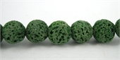 Lava Dyed Round 8mm Green beads per strand 52Beads-lava-Beadthemup