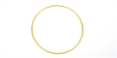 16ct Gold plt Bangle 68mm-silver, rhodium and gold plate-Beadthemup