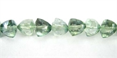 Mystic Quartz Faceted Pyramid 7mm beads per strand 37-gemstone beads-Beadthemup