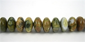 Rhyolite Rondel Polished 7x14mm beads per strand 49Beads-rhyolite-Beadthemup