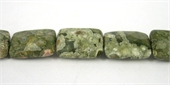 Rhyolite Rectangle Faceted 13x18mm beads per strand 22Beads-rhyolite-Beadthemup