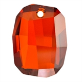 Swarovski 6685 Graphic Pendant Red Magma 28mm-graphic 6685 pendants-Beadthemup