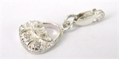 Sterling Silver Charm CZ Bag W/Lobster-pendants and charms-Beadthemup