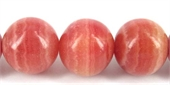 Rhodonite Dyed Polished Round 18mm/23-gemstone beads-Beadthemup