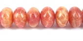 Rhodonite Dyed Polished Rondel 18x12mm/35-gemstone beads-Beadthemup