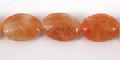 Orange Calcite 10x14mm Polished Mani beads per strand 30-gemstone beads-Beadthemup