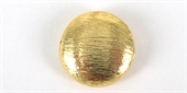 Gold Plate Copper 14mm Bead Flat Round 4 pack-gold plate copper-Beadthemup
