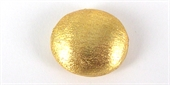 Gold Plate Copper 14x16 mm Oval Beads 4 pack-gold plate copper-Beadthemup