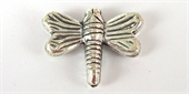 Sterling Silver Plate Copper Bead Butterfly 21x17mm 4 pack-beads-Beadthemup