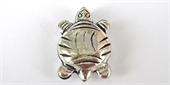 Sterling Silver Plate Copper bead Turtle 14x21mm 4 pack-beads-Beadthemup