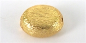 Gold Plate Copper 13x10x6mm oval 4 pack-gold plate copper-Beadthemup