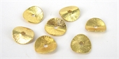 Gold Plate Copper 10mm curve disk 10 pack-gold plate copper-Beadthemup