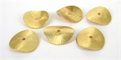 Gold Plate Copper 20mm curve disk 6 pack-findings-Beadthemup