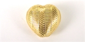 Gold Plate Copper Bead Heart 16x16mm 4 pack-gold plate copper-Beadthemup