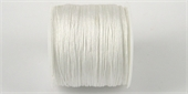 Poly Cord 1mm 50m roll White-poly cord-Beadthemup