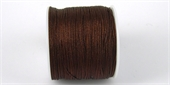 Poly Cord 1mm 50m roll Brown-poly cord-Beadthemup