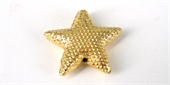 Gold Plate Copper Bead Star 17x17 mm 8pack-gold plate copper-Beadthemup