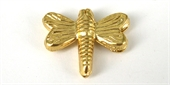 Gold Plate Copper Bead Butterfly 21x17mm 4 pack-gold plate copper-Beadthemup