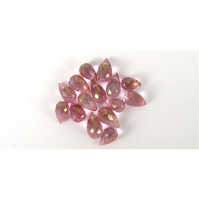 Pink Topaz  Faceted T/Drill 6x4mm Briltte