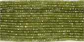 CZ Green 3mm Fac Rondel beads per strand 200-cz -Beadthemup