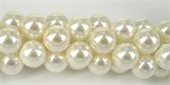 Shell based Pearl White 8mm beads per strand 38-shell based pearls-Beadthemup