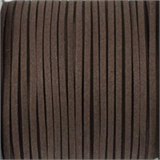 Faux Suede 3mm Dark Chocolate per Meter-suede and faux suede-Beadthemup